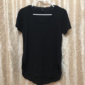 Black polyester tee shirt Ann Taylor minor stains